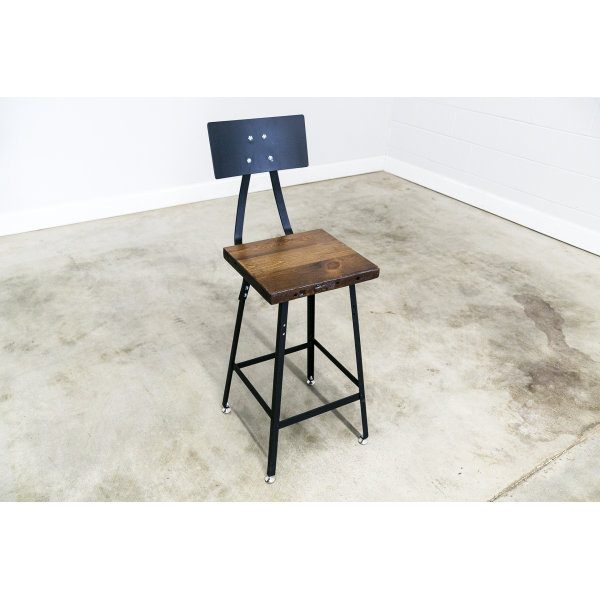 Counter Height Vintage Industrial Bar Stool
