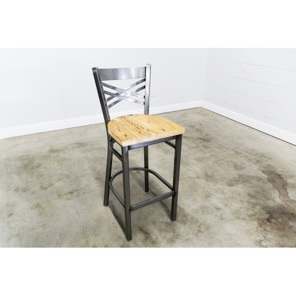30 Inch X-Back Bar Stool (Gun Metal)