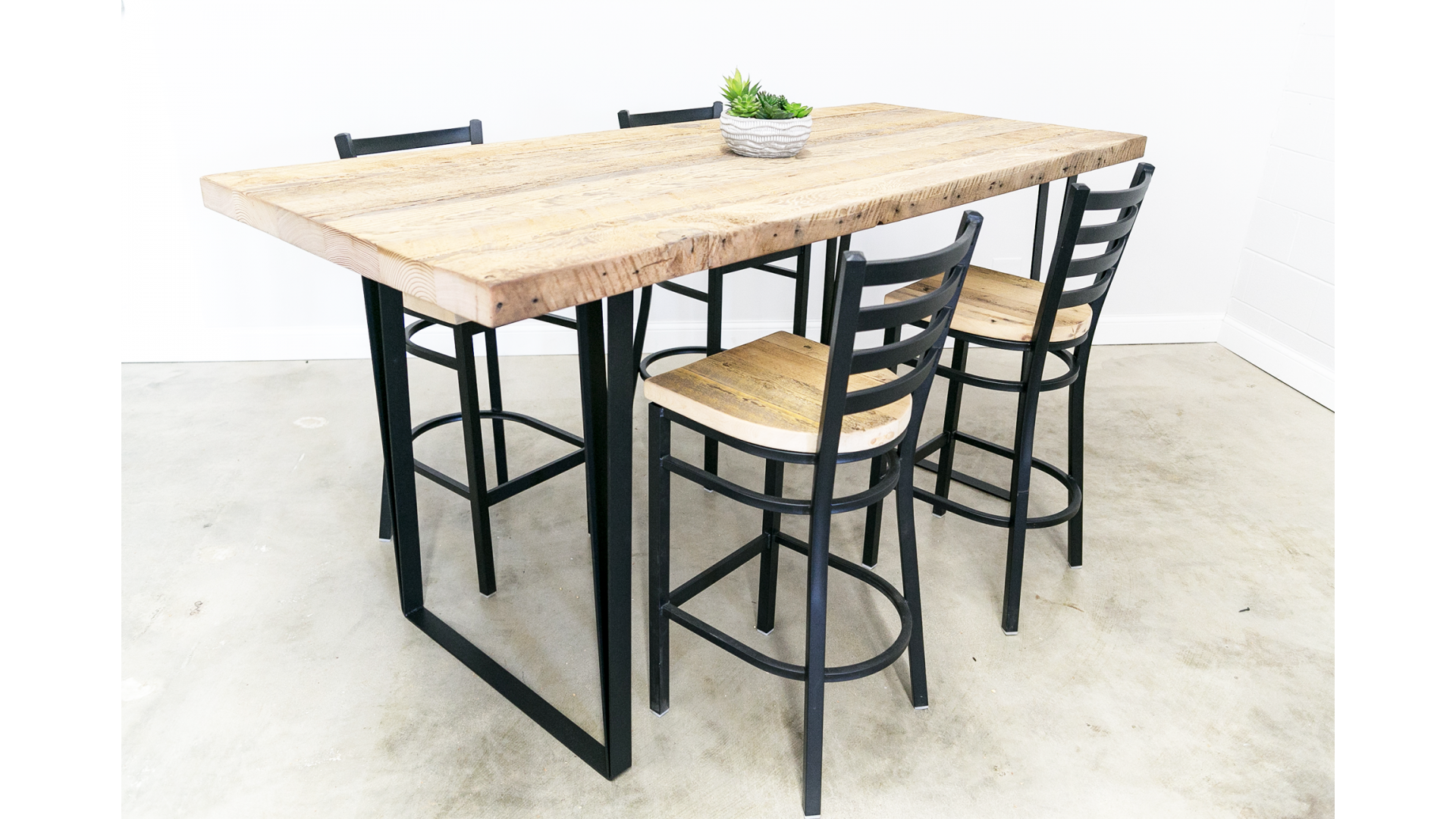 Bar Height U-Shape Dining Table