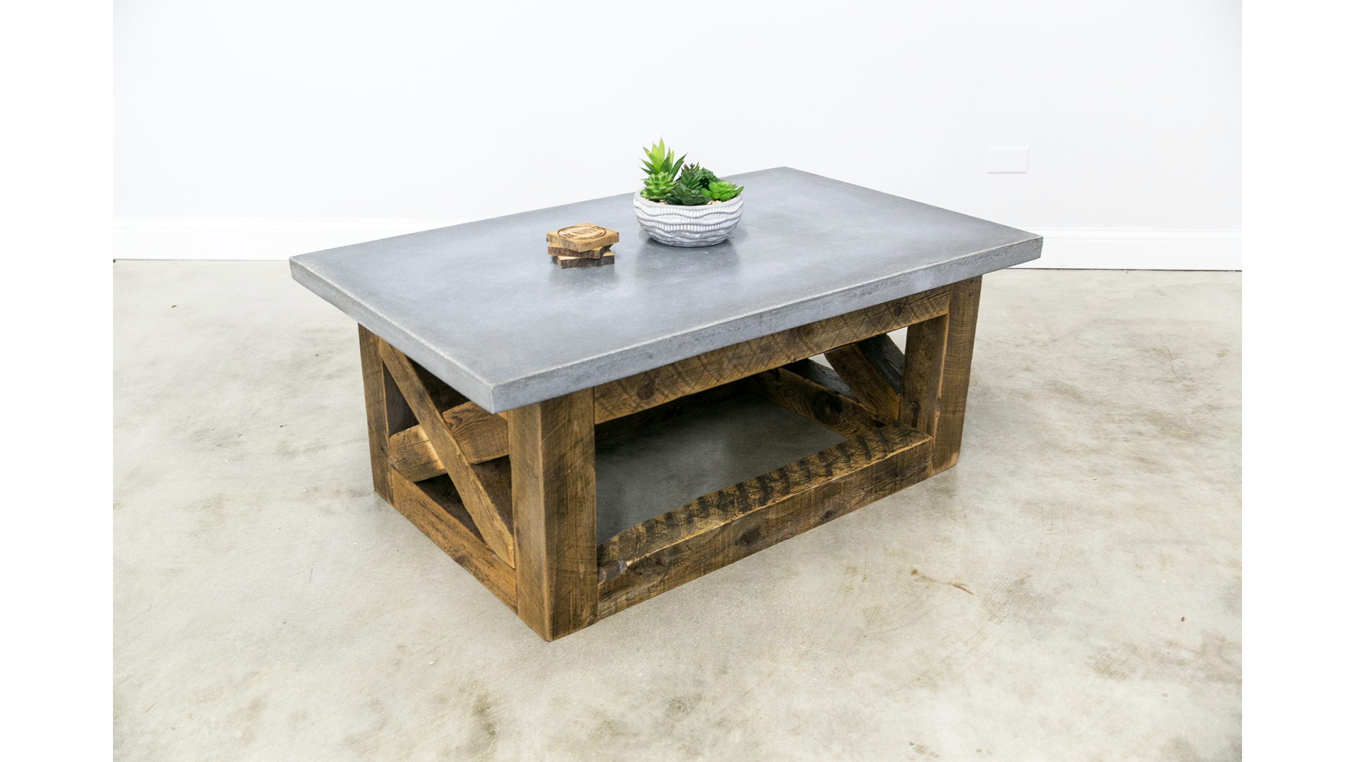 Coffee Table with Concrete Top