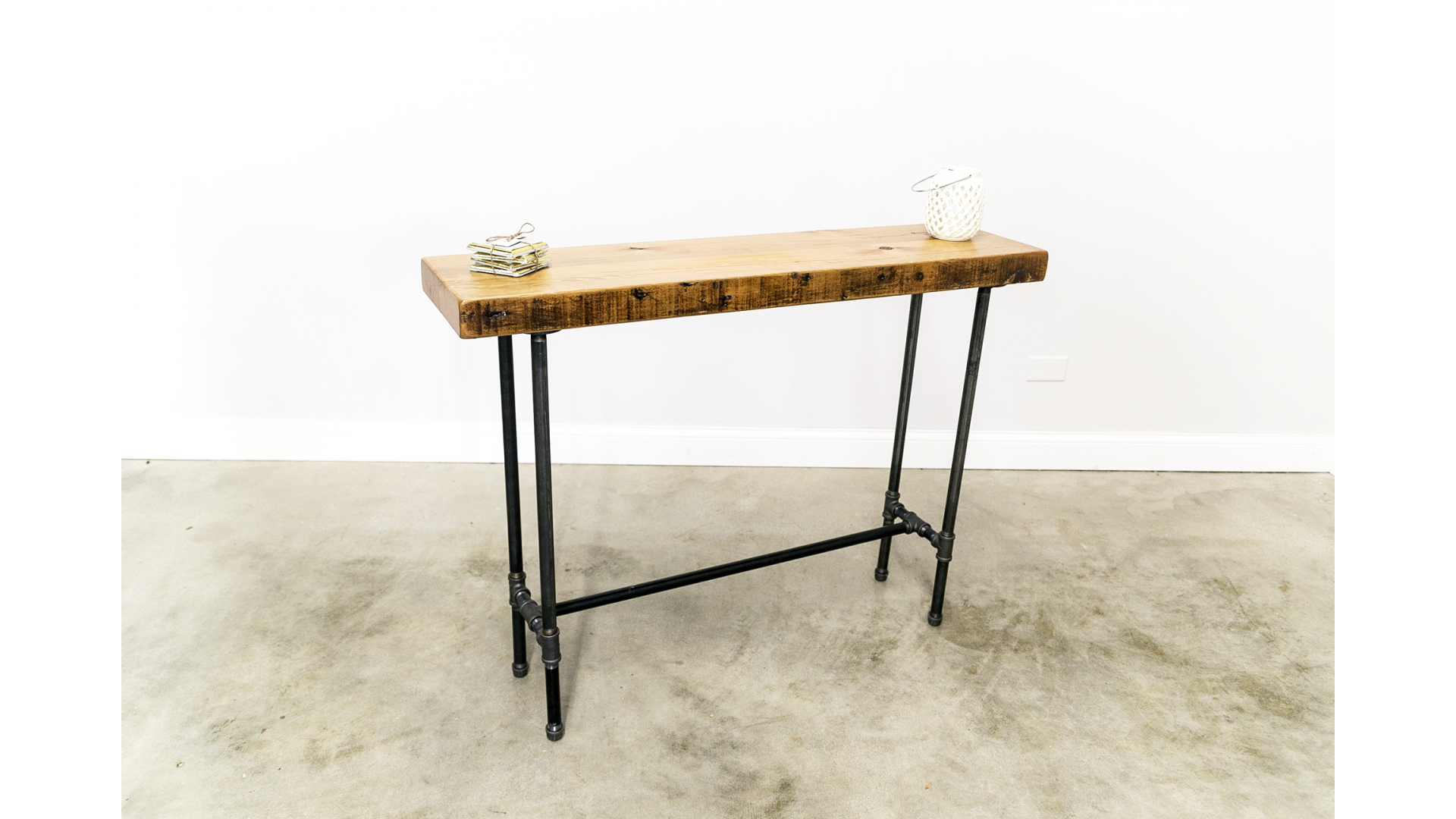 Astounding Industrial Console Table With Cross Bar Machost Co Dining Chair Design Ideas Machostcouk