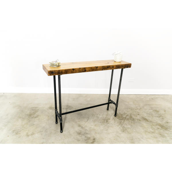 Industrial Console Table with Cross Bar