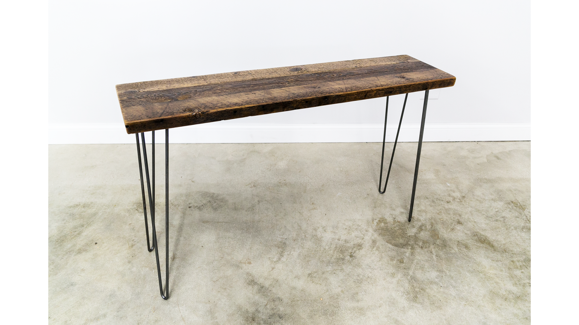 Mid-Century Console Table with Hairpin Legs