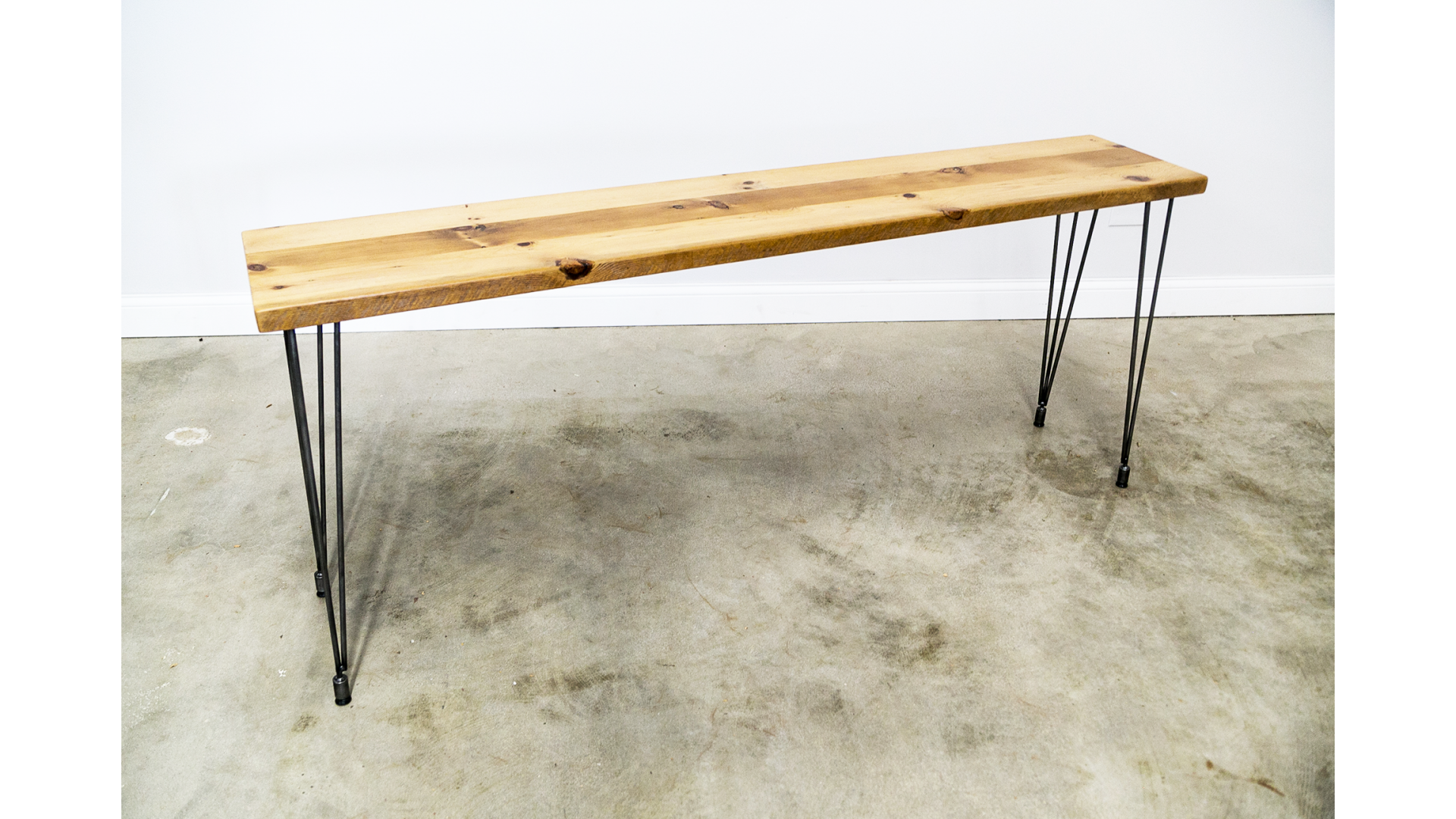 Console table with Leveling hair pin legs