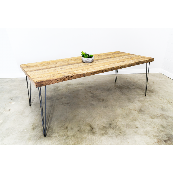 Dining Table with 3-Rod Hairpin Legs