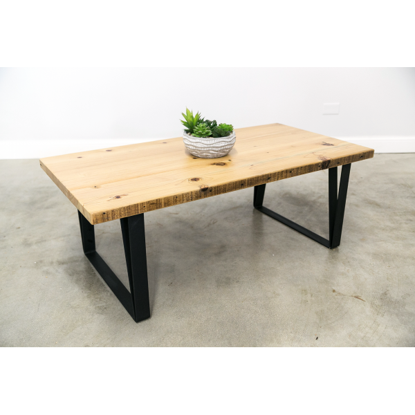 Coffee Table with U-Shaped Leg Base