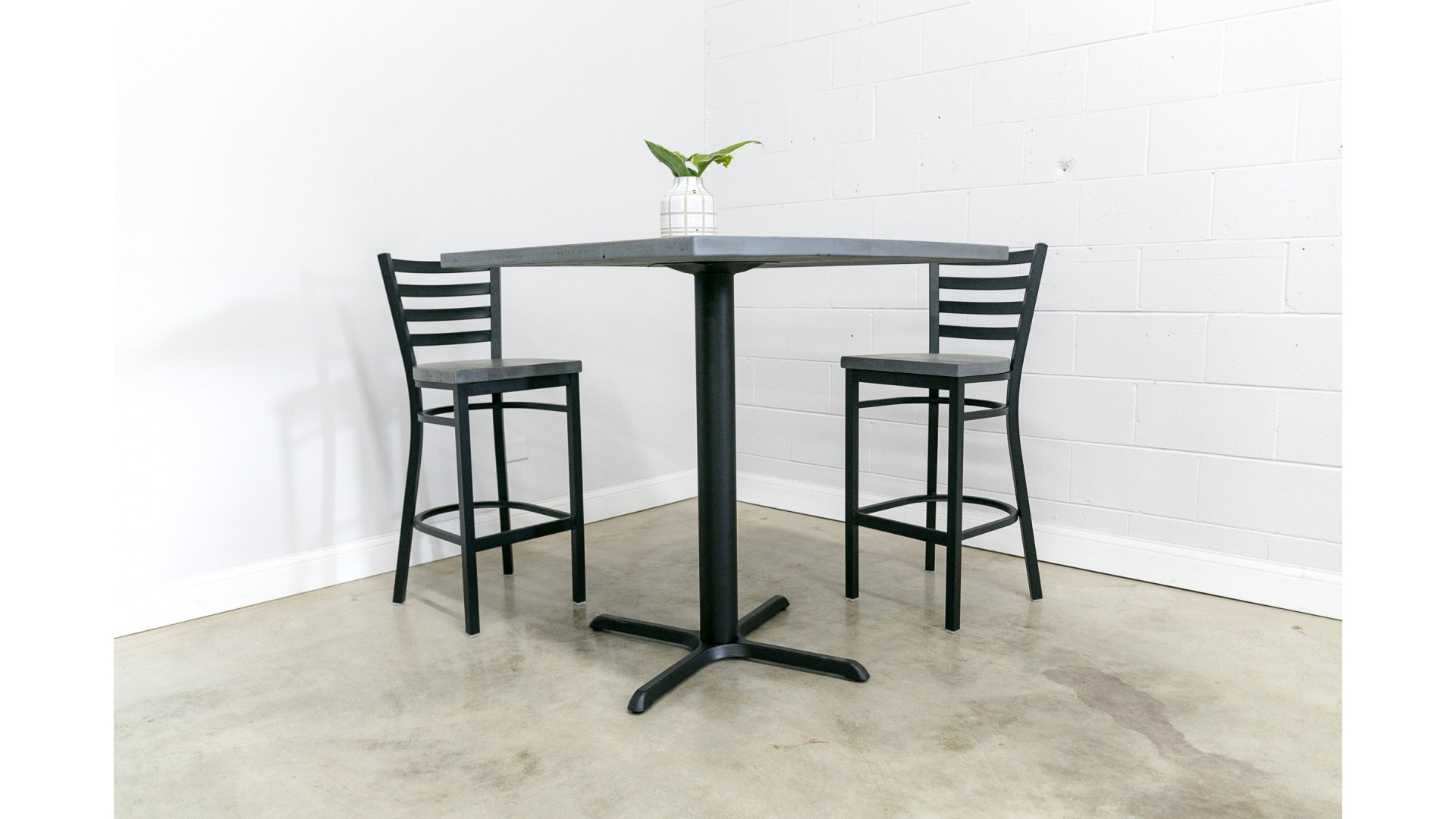 Bar Height Reclaimed Wood Square Dining Table