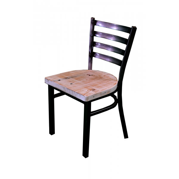 18 Inch Ladder Back Dining Chair (Black)