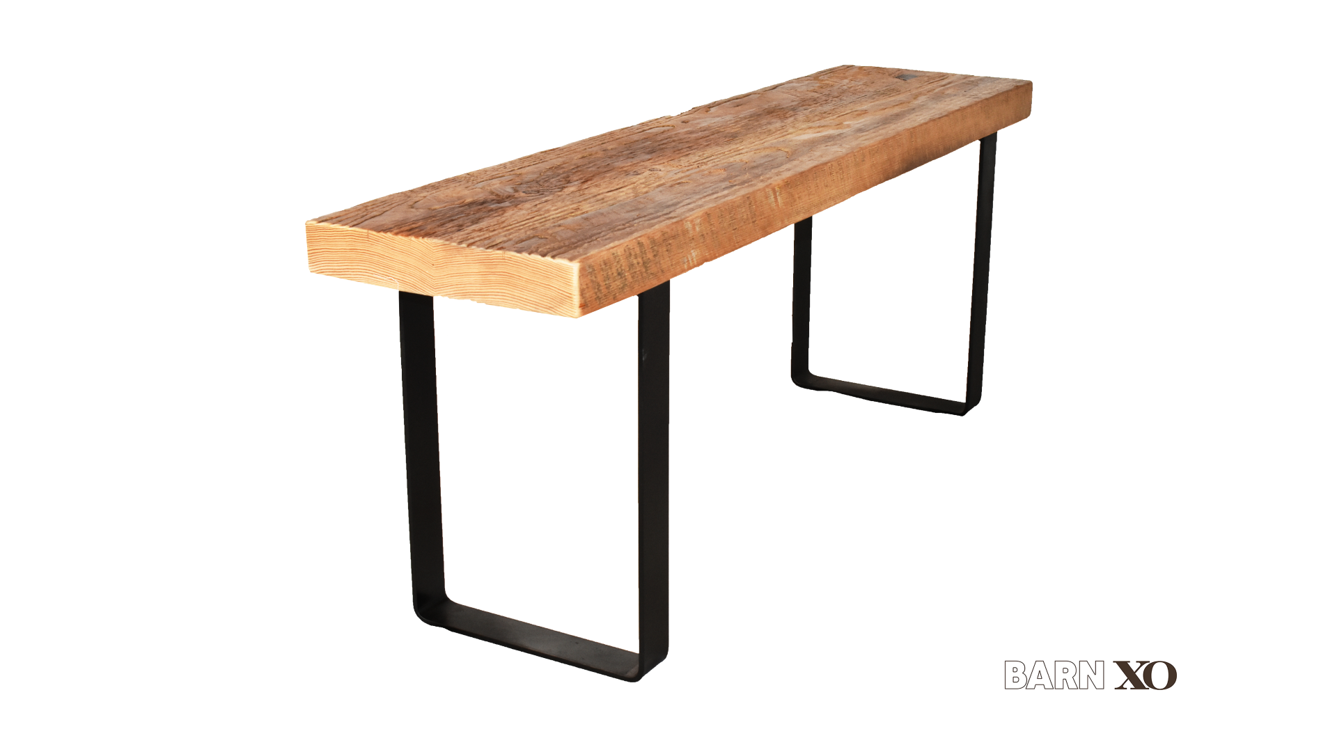 Barn Xo Reclaimed Wood Bench With U Shaped Leg Base