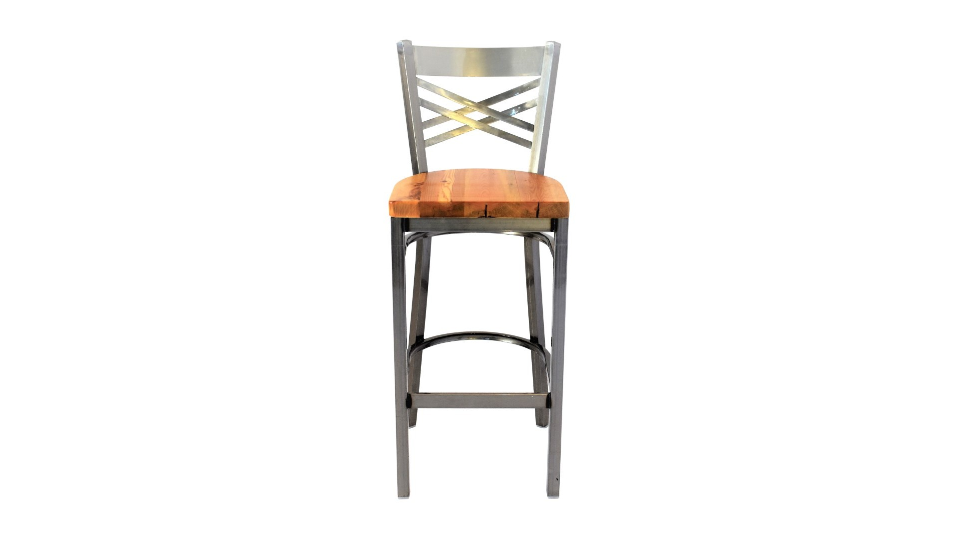 Admirable 30 Inch X Back Bar Stool Gun Metal Squirreltailoven Fun Painted Chair Ideas Images Squirreltailovenorg