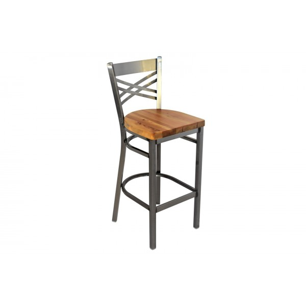 24 Inch X-Back Bar Stool