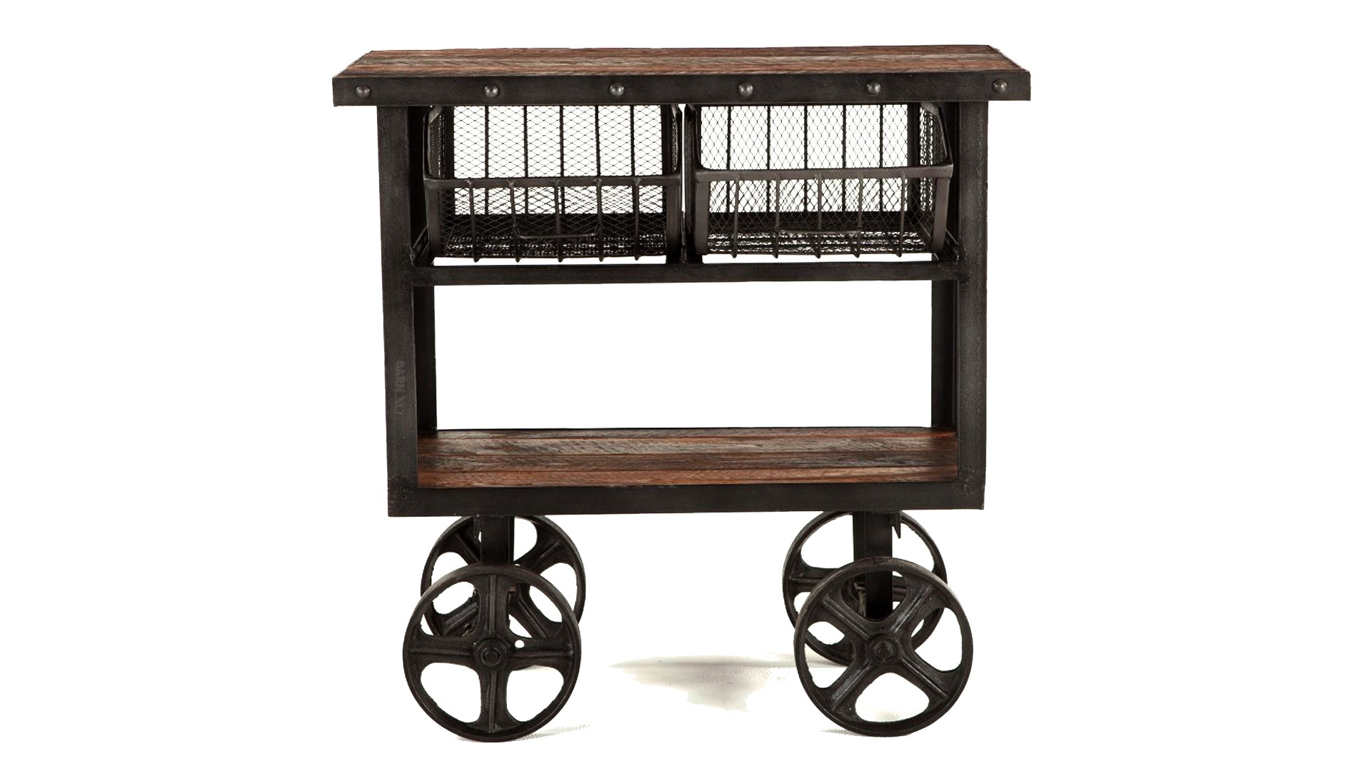 Industrial Cart Table 36 inch