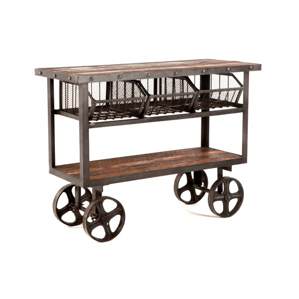 Industrial Cart Table 48 inch