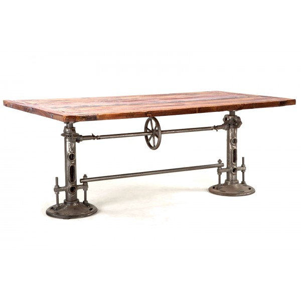 Industrial Loft 82 Inch Adjustable Table