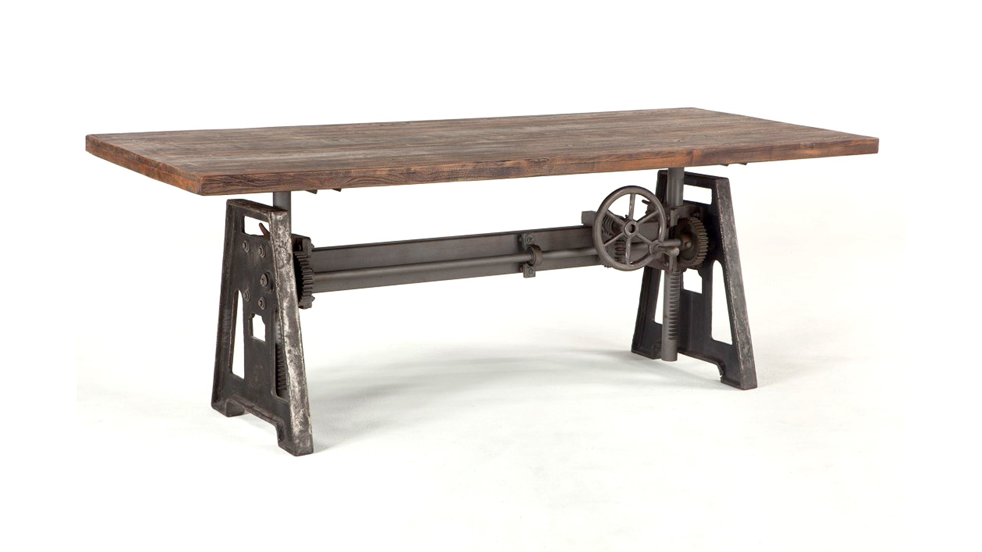 Industrial Loft 84 Inch Adjustable Dining Table Reclaimed Wood