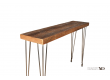 Leveling hair pin leg Console table