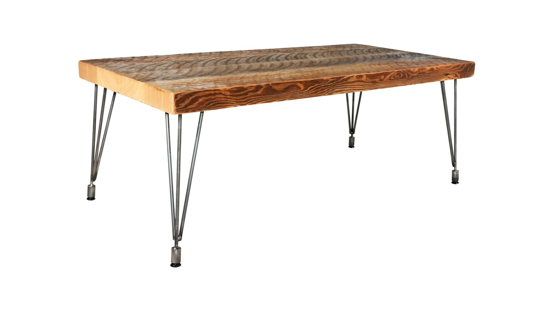 Coffee Table with Leveling Hair Pin Legs