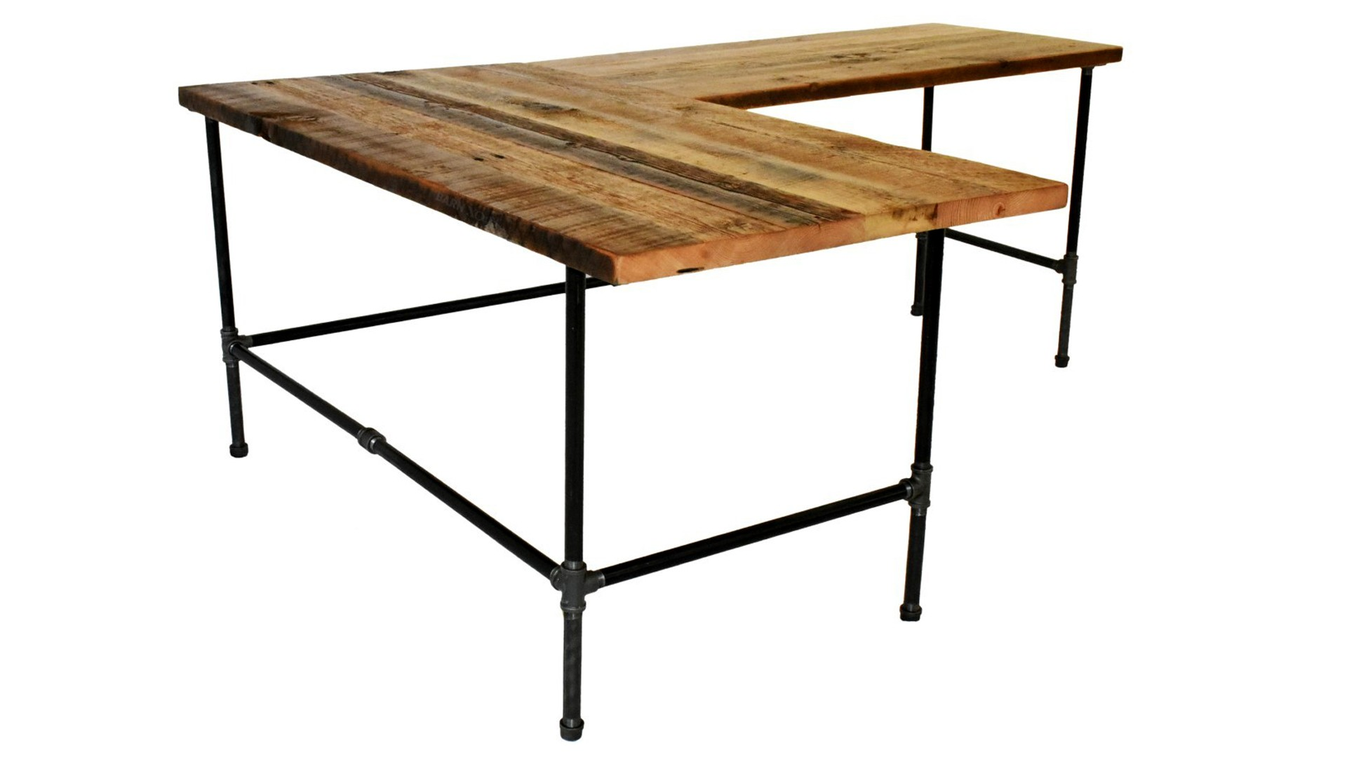 Modern Industrial L-Shaped Desk