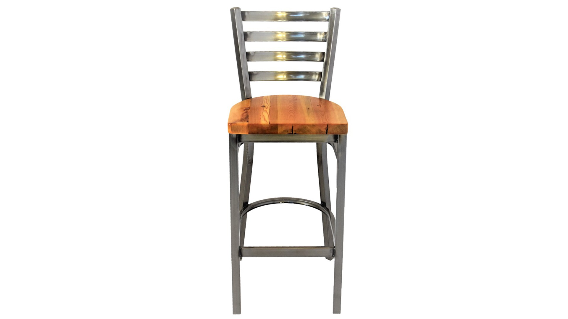 30 Inch Gun Metal Gray Barstool Ladder Back