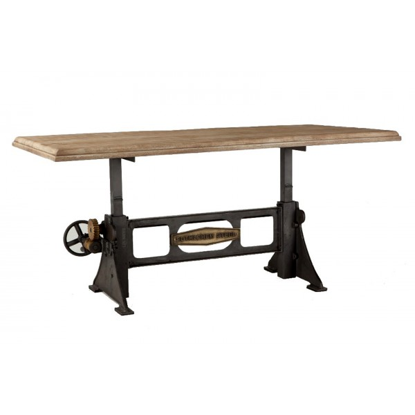 Steel City Adjusting Table, Antique Base