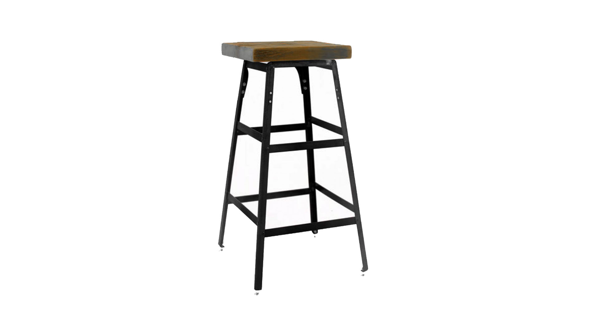 Vintage Industrial Bar Stool Backless