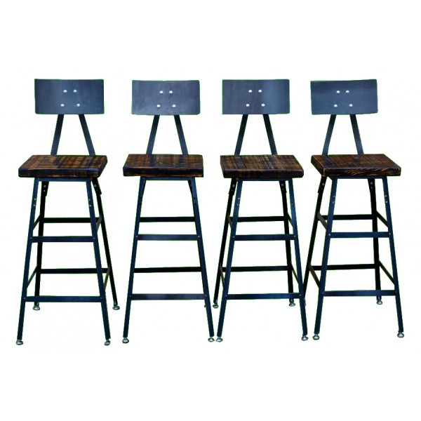 Vintage Industrial Bar Stool (Set of 4)