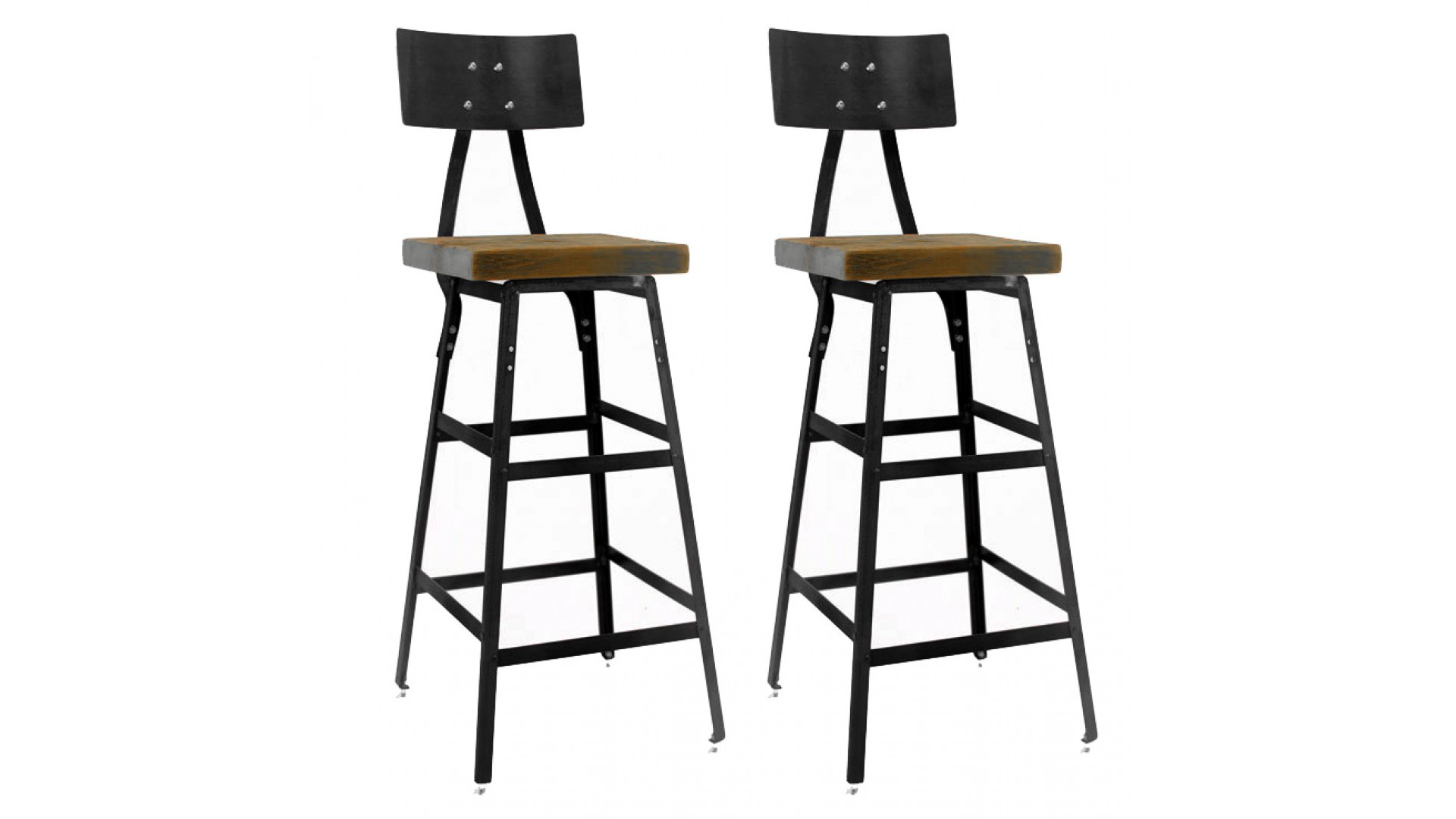 Vintage Industrial Bar Stool (Set of 2)