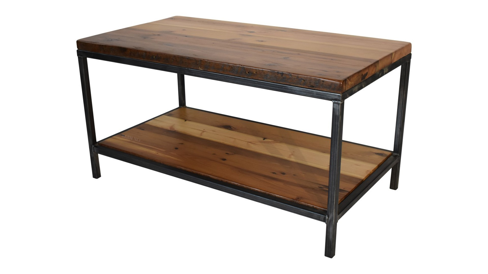 Urban Steel Coffee Table, Floating Shelf