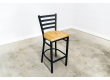 30 Inch Ladder Back Bar Stool (Black)