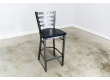 30 Inch Ladder Back Bar Stool (Gun Metal)