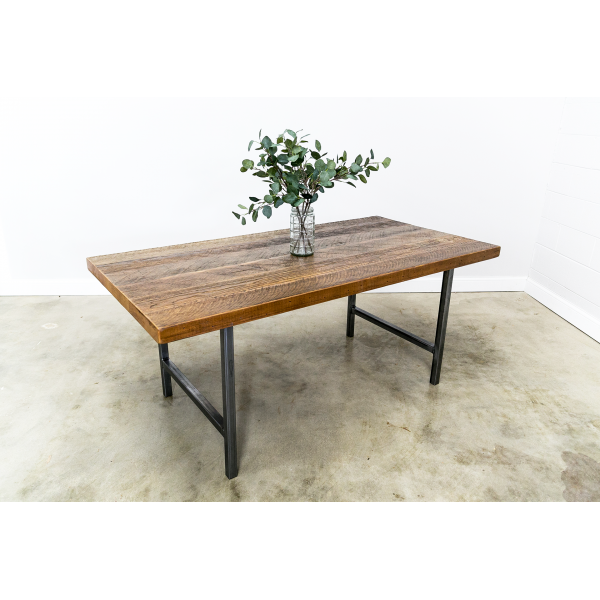 Dining Table with H-Leg Base