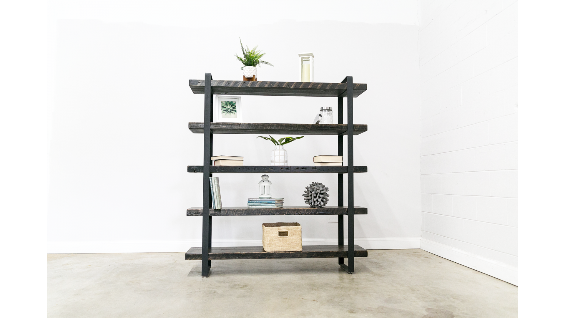 Reclaimed Wood Shelving Unit