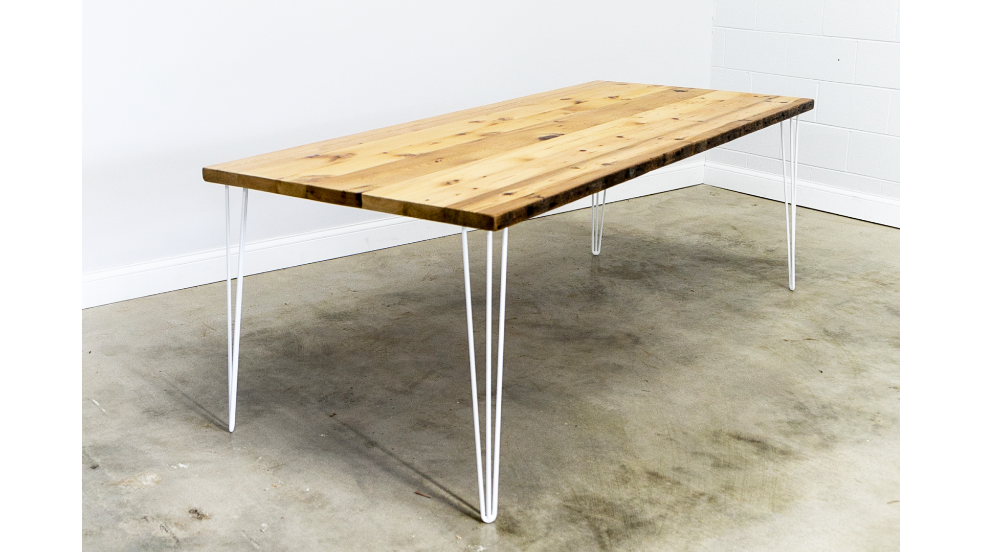 Dining Table with White Hairpin Legs