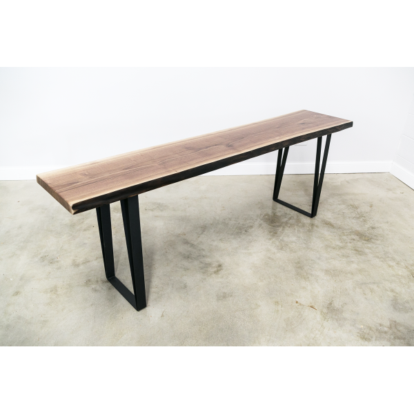 Live Edge Console Table with U-Shape Legs