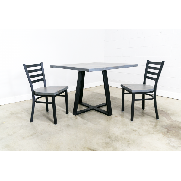 Square Dining Table with Criss-Cross Leg Base